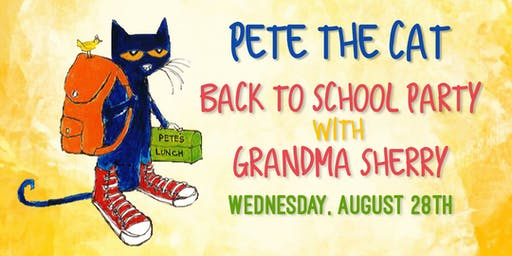 Pete the Cat Back to School Party with Grandma Sherry