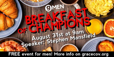 """Grace Covenant Church Presents: G-Men """"Breakfast of Champions""""  tickets"""