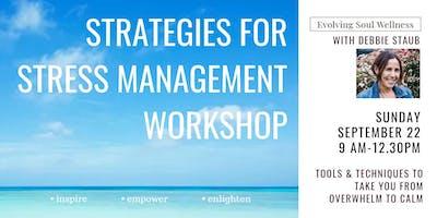 Strategies For Stress Management Workshop