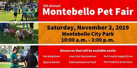 5th Annual Montebello Pet Fair tickets