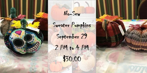 No-Sew Sweater Pumpkins