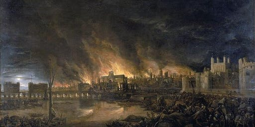 The Great Fire of London in a Jar