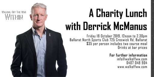 A Charity Lunch with Derrick McManus supporting Walking Off The War Within