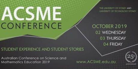 ACSME 2019 Discipline Day Program tickets
