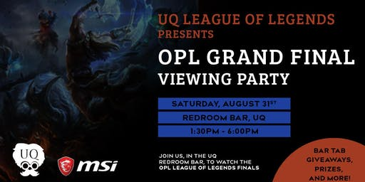 Brisbane OPL Finals Viewing Party