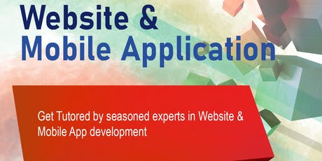 Get Tutored by Seasoned Expert in Website and Mobile App Development tickets