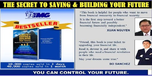 The Secret to Saving & Building Your Future, August 26, Monday, 6:30PM