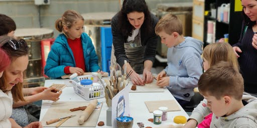 Monday - Little Potters 'Hand Building and Wheel Throwing' Classes