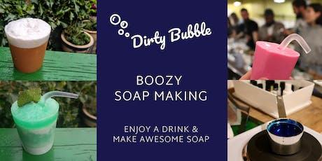 Boozy Soap Making Workshop tickets