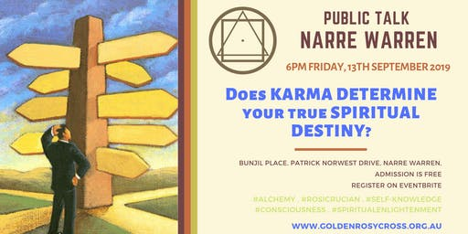 Public Talk: Does Karma determine your True Spiritual Destiny?