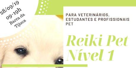 Curso Reiki Pet Nível 1- O Despertar. Para veterinários e profissionais pet ingressos