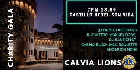 Calvia Lions Charity Dinner Castillo Hotel Son Vida 28th September 2019 entradas