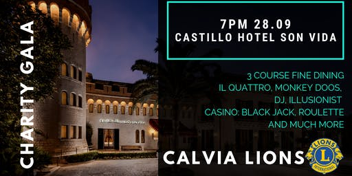 Calvia Lions Charity Dinner Castillo Hotel Son Vida     28th September 2019