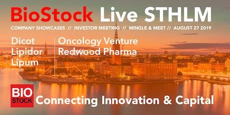 BioStock Live STHLM August 27 biljetter