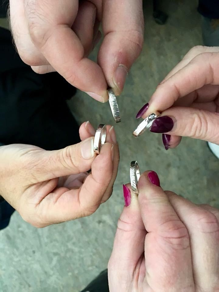 Jewellery Making Class - Hammered Silver Ring image