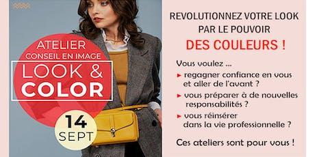 ♥♥♥  Ateliers LOOK & COLOR Les couleurs qui me donnent bonne mine ! tickets