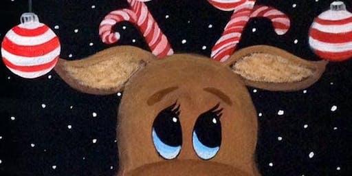Paint a Xmas reindeer Aberdeen