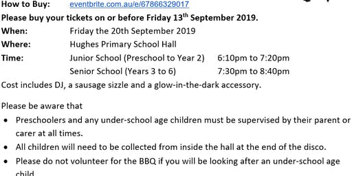 2019 Hughes Primary School Disco