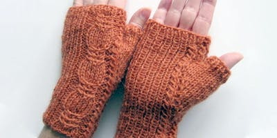 Cabled Fingerless Mittens with Fiona Morris