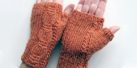 Cabled Fingerless Mittens with Fiona Morris tickets