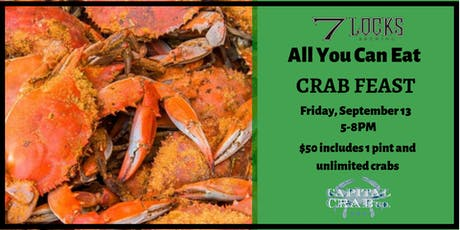 All You Can Eat Crab Feast at 7 Locks Brewing tickets