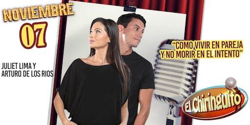 Juliet Lima y Arturo de los Rios @ El Chiringuito
