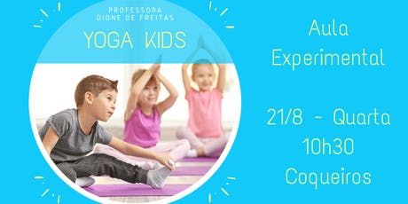Yoga Kids - Aula Experimental ingressos