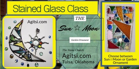 Garden Ornament,  Moon ☆ Sun 4 hr Stained Glass Cl tickets