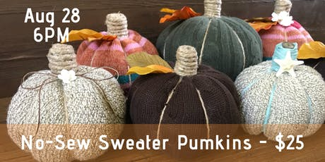 No Sew Sweater Pumpkins tickets