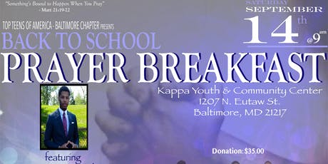 5th Annual Back to School Prayer Breakfast tickets