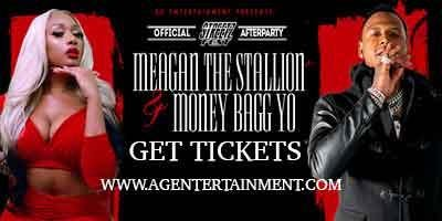 Money Bagg Yo & Meagan The Stallion tickets for this saturday available at www.agentertainment.com