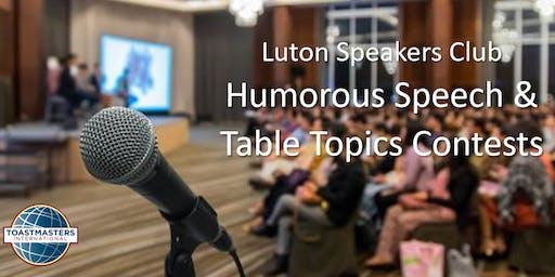 Humorous Speech & Table Topics Contests