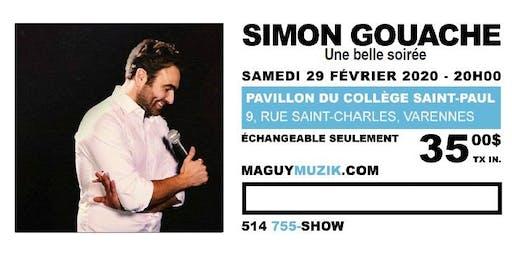 Simon Gouache, nouveau spectacle, 29 fév. 2020. Offre 2 de 2
