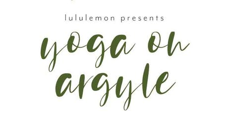 YOGA ON ARGYLE tickets