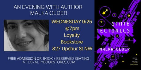 An Evening with Author Malka Older tickets