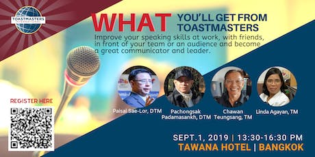 Learn Public Speaking and Team Management with Toastmasters tickets