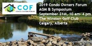 2019 Condo Owners Forum AGM and Symposium