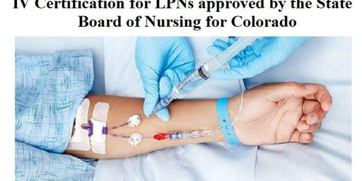 IV Certification for LPNs State Approved September 19, 2019 at S