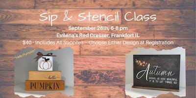 Sip & Stencil Fall Designs