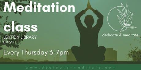 Meditation class in Leyton tickets