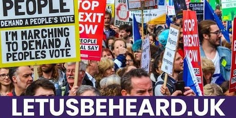 LET US BE HEARD People's Vote London March 19 October 2019 - COACH TRAVEL tickets