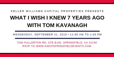 What I Wish I Knew 7 Years Ago with Tom Kavanagh tickets