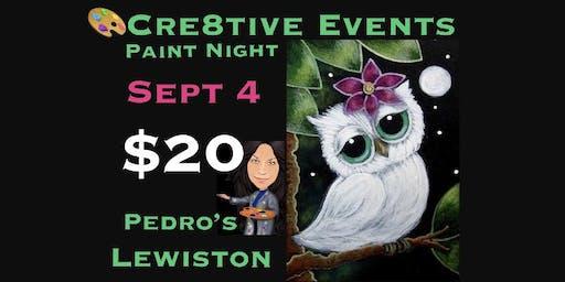 $20 Paint Night YAY ! @ Pedro's in Lewiston