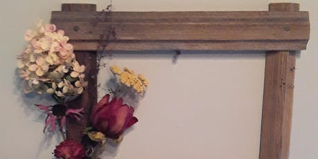 Trudy's Shabby-Chic flower frame tickets