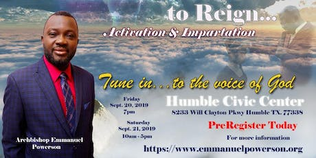 Prophetic Training to Reign Conference tickets