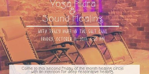Yoga Nidra & Sound Healing in the Salt Cave with Tracy Hart