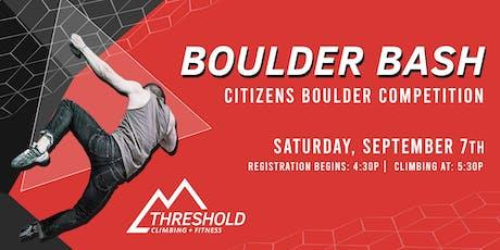 Boulder Bash Competition tickets