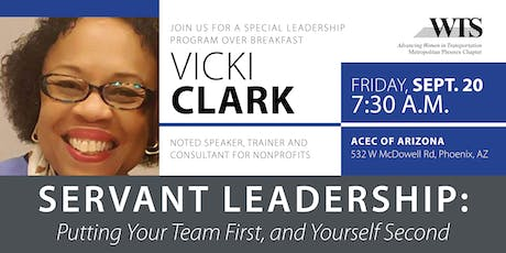Servant Leadership with Vicki Clark tickets