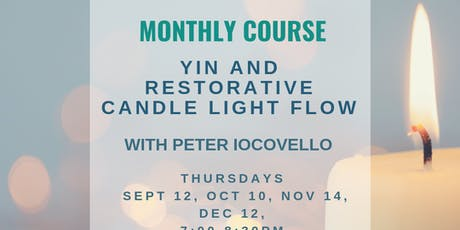 Yin and Restorative candle light flow with Pete Iocovello tickets