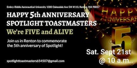 Happy 5th Anniversary Spotlight! tickets
